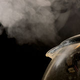 Glass Kettle boiling water Royalty Free Stock Image
