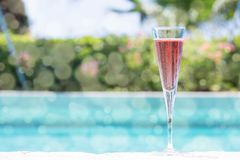 Glass of Kir Royal Stock Photography