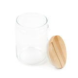 Glass kitchen jar isolated Stock Photography