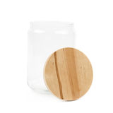 Glass kitchen jar isolated Royalty Free Stock Image
