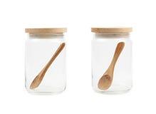 Glass kitchen jar isolated Stock Image