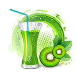 Glass of kiwi juice Stock Photo