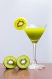 Glass of kiwi juice Royalty Free Stock Image