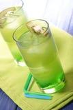 Glass of kiwi juice with ice Royalty Free Stock Photo