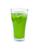 Glass of kiwi juice Stock Photography
