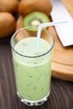 Glass of kiwi smoothie Royalty Free Stock Photos