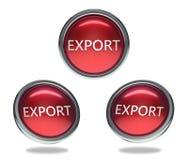 Glass knapp för export royaltyfri illustrationer