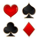 Glass knapp för poker Royaltyfria Foton