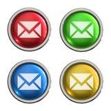 Glass knapp för post Arkivfoton