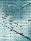 glass kontorsvägg för byggnad Arkivbilder