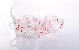 Glass kopp Glass kopp på en bakgrund Glass kopp på en bakgrund Arkivbild