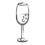 glass koppdrinkbröllop skissar stock illustrationer