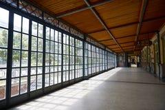 Glass korridor Fotografering för Bildbyråer