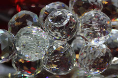 Glass kristallbakgrund Arkivbilder