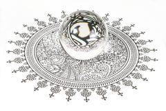 Glass kristallkula Royaltyfri Bild