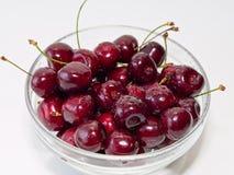 glass kruka för Cherry Arkivfoton