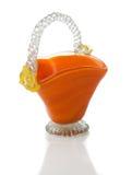 Glass kruka för orange färg Arkivfoto