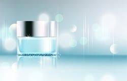 Glass krus för vektor på bokehbakgrund Beståndsdel för modern design, Royaltyfri Fotografi