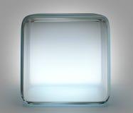 Glass kub Royaltyfria Foton