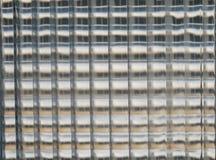 Glass kuber blockerar väggen för bakgrund, abstrakt glass kubkvartervägg Royaltyfri Bild
