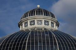Glass kupol av en gammal byggnad fotografering för bildbyråer
