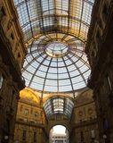 Glass kupol av Galleria i Milan, Italien Fotografering för Bildbyråer