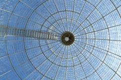 Glass kupolhjärtförmaktak Arkivbilder