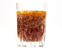 Glass of kvass with ice Stock Photo