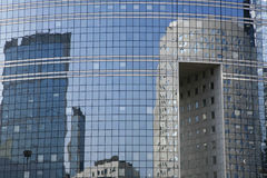 Glass - La Defense. Futuristic corporate office buildings - La Defense, Paris Stock Images