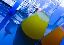 glass laboratorium Arkivbild