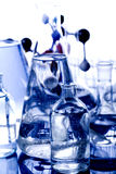 Glass in laboratory Royalty Free Stock Image