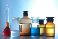 Glass laboratory apparatus Royalty Free Stock Photography
