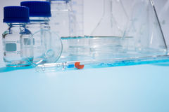 Glass laboratory apparatus Stock Photo