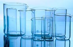 Glass laboratory equipment Stock Image