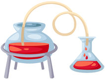 Glass laboratory equipment Royalty Free Stock Photography