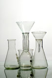 Glass laboratory equipment Stock Photo