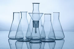 Glass laboratory equipment Royalty Free Stock Image