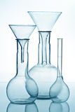 Glass laboratory equipment Royalty Free Stock Photography