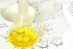Glass laboratory equipment Stock Photography