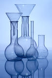 Glass laboratory equipment Royalty Free Stock Photos