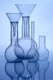 Glass laboratory equipment royalty free stock photos