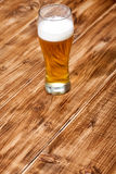 A glass of lager beer Stock Photos