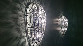 Glass lamp in chandelier Style. Royalty Free Stock Images