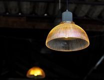 Glass Lamp in coffee shop. Glass Lamp in nice coffee shop Royalty Free Stock Photography