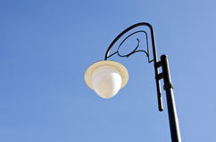 Glass lamp metal decorative pole park lighting Stock Image