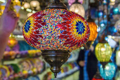 Glass lamp in the Oriental style in a souvenir shop Stock Images