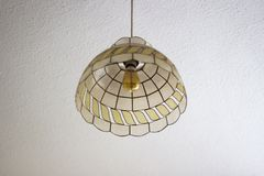 Glass lamp shade Stock Photography