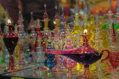 Glass lampor Royaltyfria Foton