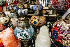 Glass lamps. stock image