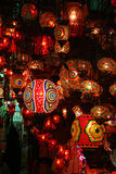 Glass lanterns,Covered bazaar Stock Images